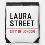 Laura Street  Drawstring Backpack