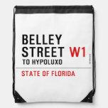Belley Street  Drawstring Backpack