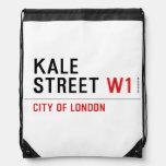 Kale Street  Drawstring Backpack