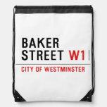 baker street  Drawstring Backpack