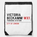 Victoria  Beckamm  Drawstring Backpack