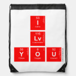 I Lv you  Drawstring Backpack