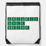 Periodic Table Writer  Drawstring Backpack