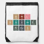 Owl Square Press  Drawstring Backpack