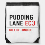 PUDDING LANE  Drawstring Backpack