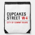 cupcakes Street  Drawstring Backpack