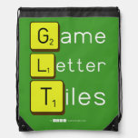 Game Letter Tiles  Drawstring Backpack
