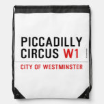 piccadilly circus  Drawstring Backpack