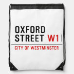 oxford street  Drawstring Backpack