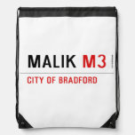 Malik  Drawstring Backpack
