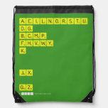 AEILNORSTU DG BCMP FHVWY K   JX  QZ  Drawstring Backpack