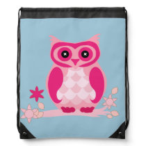 Drawstring Backpack Animated Owl