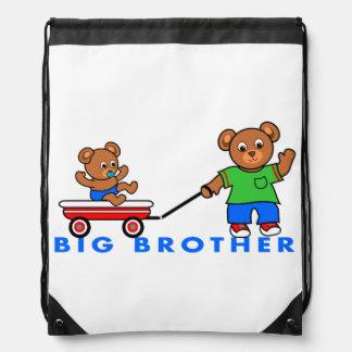 Drawstring Backpack Big Brother Male Bears Wagon