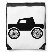Drawstring Backpack Doodle Art Car/Truck