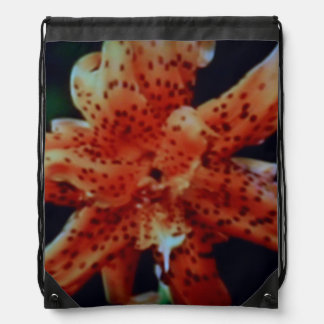 DRAWSTRING BACKPACK - DOTTED FLOWER