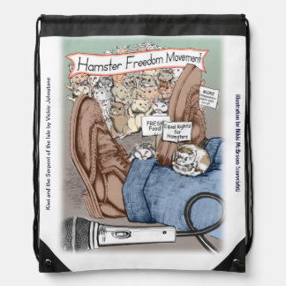 Drawstring backpack - Hamster March