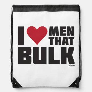 Drawstring Backpack: I Love Men That Bulk Drawstring Bag