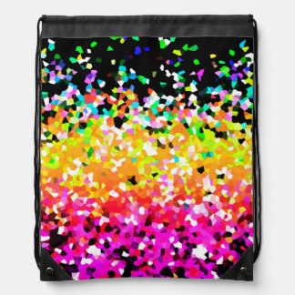 Drawstring Backpack Mosaic Sparkley Texture Backpack