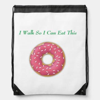 Drawstring Backpack--Sprinkles Donut Drawstring Bag