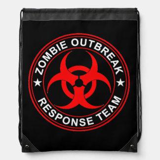 Drawstring Backpack Zombie Walking Response Team