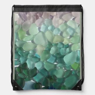 Drawstring Bag featuring Puerto Rican Sea Glass