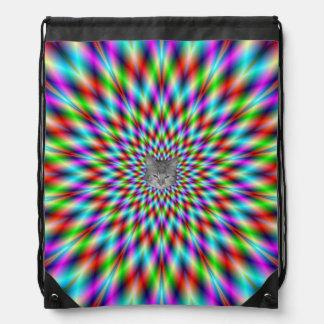 Drawstring Bag  Neon Star Exploding