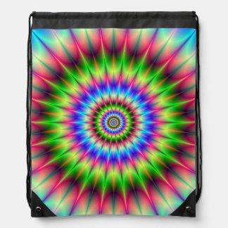 Drawstring Bag   Spiky Color Explosion