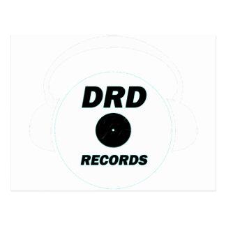 DRD RECORDS LOGO 1 POSTCARD