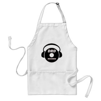 DRD RECORDS LOGO 2 ADULT APRON