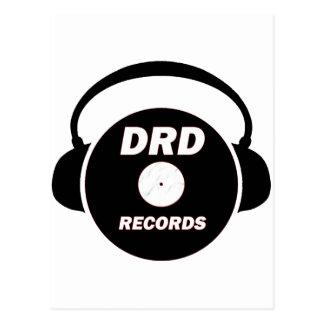 DRD RECORDS LOGO 2 POSTCARD