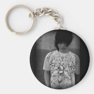 Dre Mascato Basic Round Button Keychain