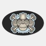 Dread Fezbeard Oval Sticker