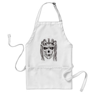dread skull adult apron