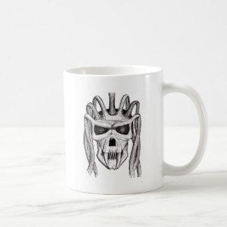 dread skull coffee mug