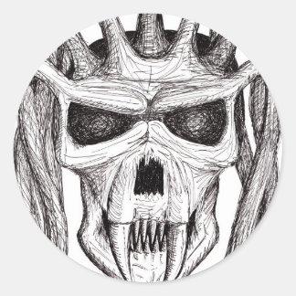 dread skull sticker