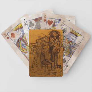 DREAD WAITING ON A SHOE SHINE BICYCLE PLAYING CARDS