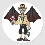 Dreaded Dracula Classic Round Sticker