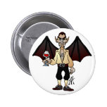 Dreaded Dracula Pinback Buttons