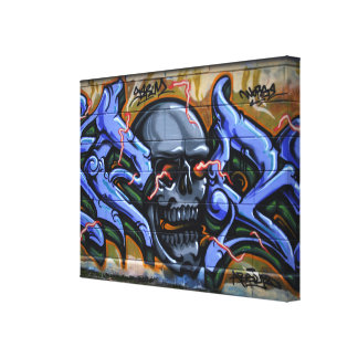 Dreadful Skull With Burning Eyes Canvas Print