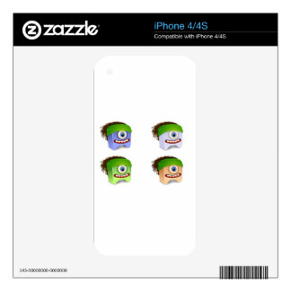 Dreadhead Creatures Vector design iPhone 4S Decals