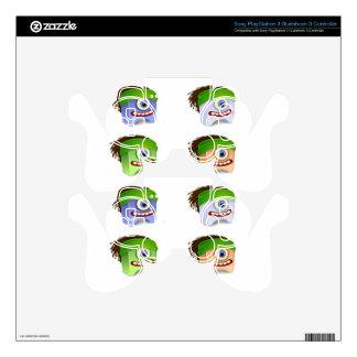 Dreadhead Creatures Vector design PS3 Controller Decal