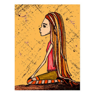 dreadlock girl tarjetas postales