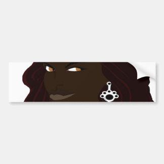 Dreadlock Headshot 2(Sketchbook Pro) Bumper Sticker