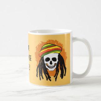 Dreadlock skull coffee mug