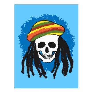 Dreadlock skull postcard