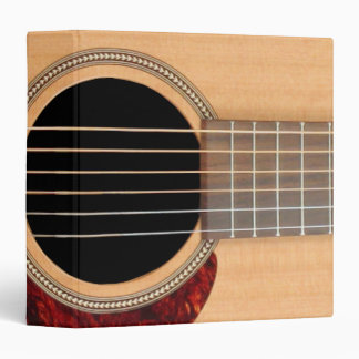 Dreadnought Acoustic six string Guitar 3 Ring Binder