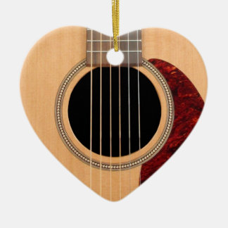 Dreadnought Acoustic six string Guitar Ceramic Ornament