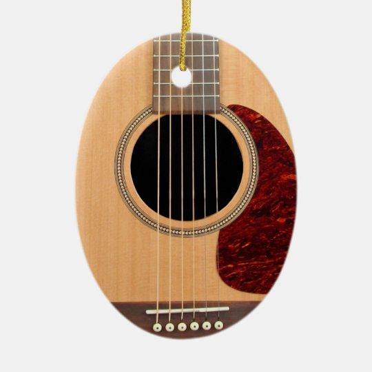Dreadnought Acoustic six string Guitar Ceramic Ornament