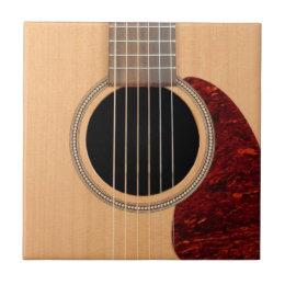 Dreadnought Acoustic six string Guitar Ceramic Tile