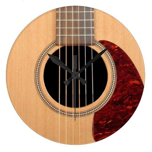 Dreadnought Acoustic six string Guitar Clock